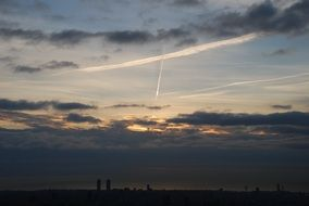 barcelona dawn horizon sky clouds N3