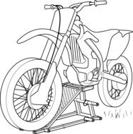 motorcycle sketch drawing