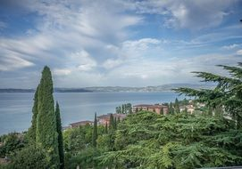 the summer scenery of Lake Garda