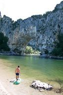 stone gorge on the river in Ardeche