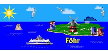 Island in Germany clipart