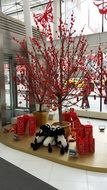decorated tree for chinese new year