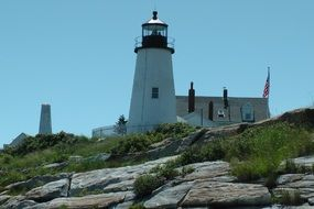 scenic marine lighthouse on the rock