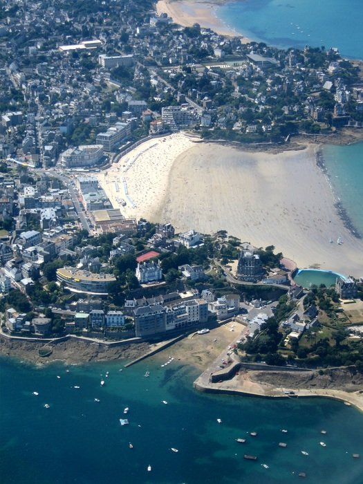 aerial view of a beach in brittany