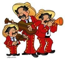 Clipart of funny mexican men
