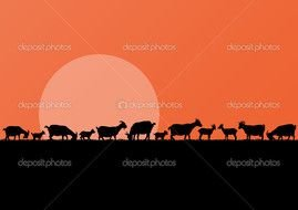 Dairy Goat Silhouette Farm Goats Herd