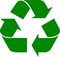 Green Recycling sign clipart