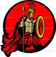 clipart of the Spartan Logo
