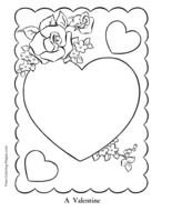 black and white drawing hearts with flowers