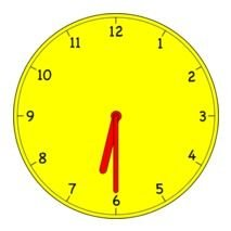clock with yellow clock face