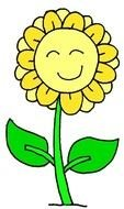 sleeping yellow flower as a picture for clipart