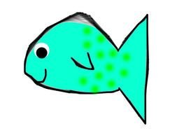Colorful fish drawing clipart