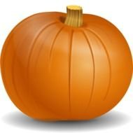 orange pumpkin as a picture for clipart