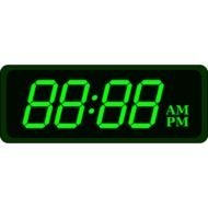 green numbers on electronic alarm clock