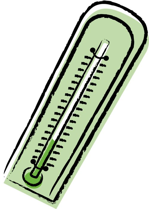 green thermometer