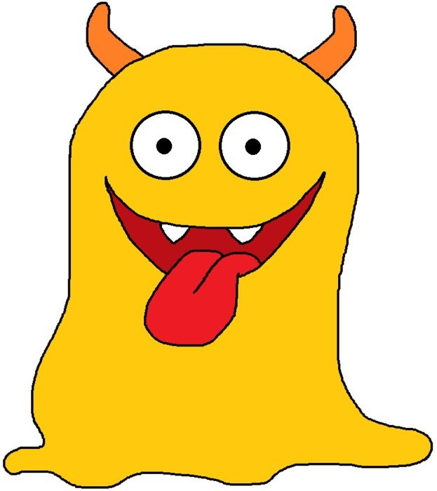 funny yellow monster