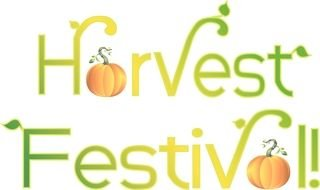 Harvest Festival, banner with pumpkins
