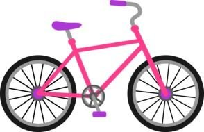 Pink And Purple Bicycle drawing