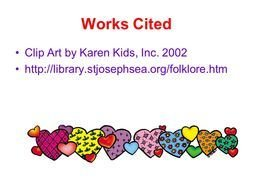 clipart of the Works Cited