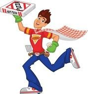 Clipart of the delivery man