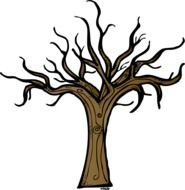 brown tree Clipart drawing