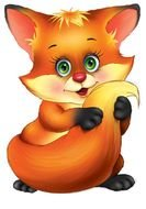 clipart of the cute fox