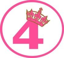 pink crowned number four