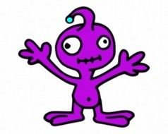 Invader Purple Vector drawing
