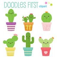 Clipart of the cactuses