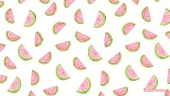 Cartoon colorful watermelons clipart