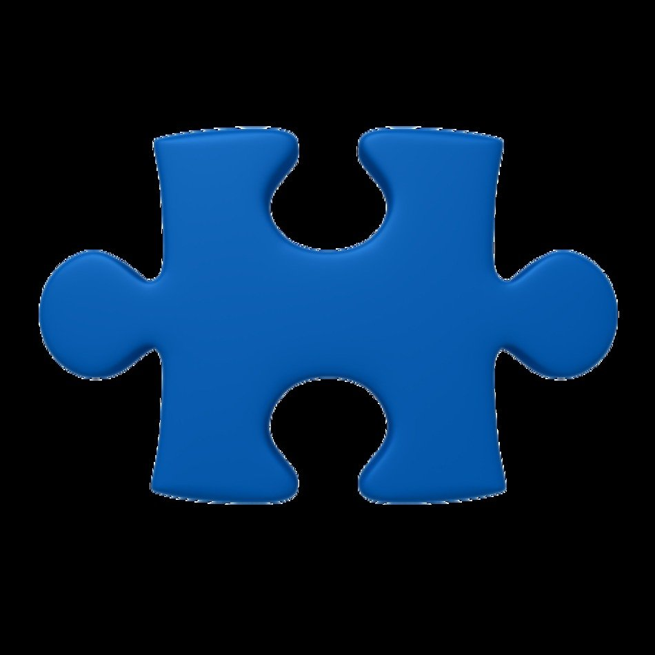 Puzzle blue Piece drawing