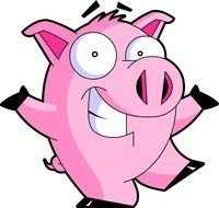 clipart of the pink dancing pig
