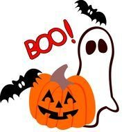 Colorful cartoon Halloween clipart