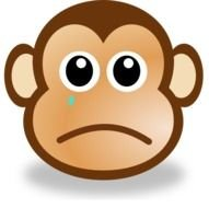 sad monkey face