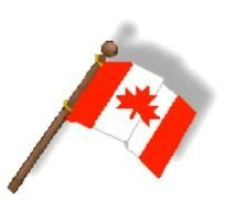 Clipart of Canada Flag