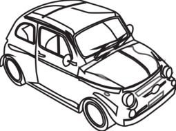 Car Black And White drawing