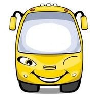 cartoon smiling bus