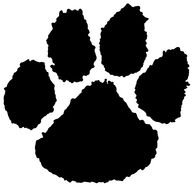black tiger paw print