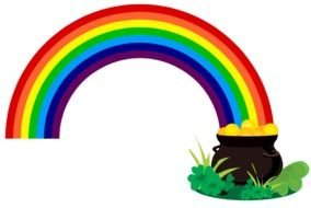 Shamrock rainbow. Clipart images at pixy