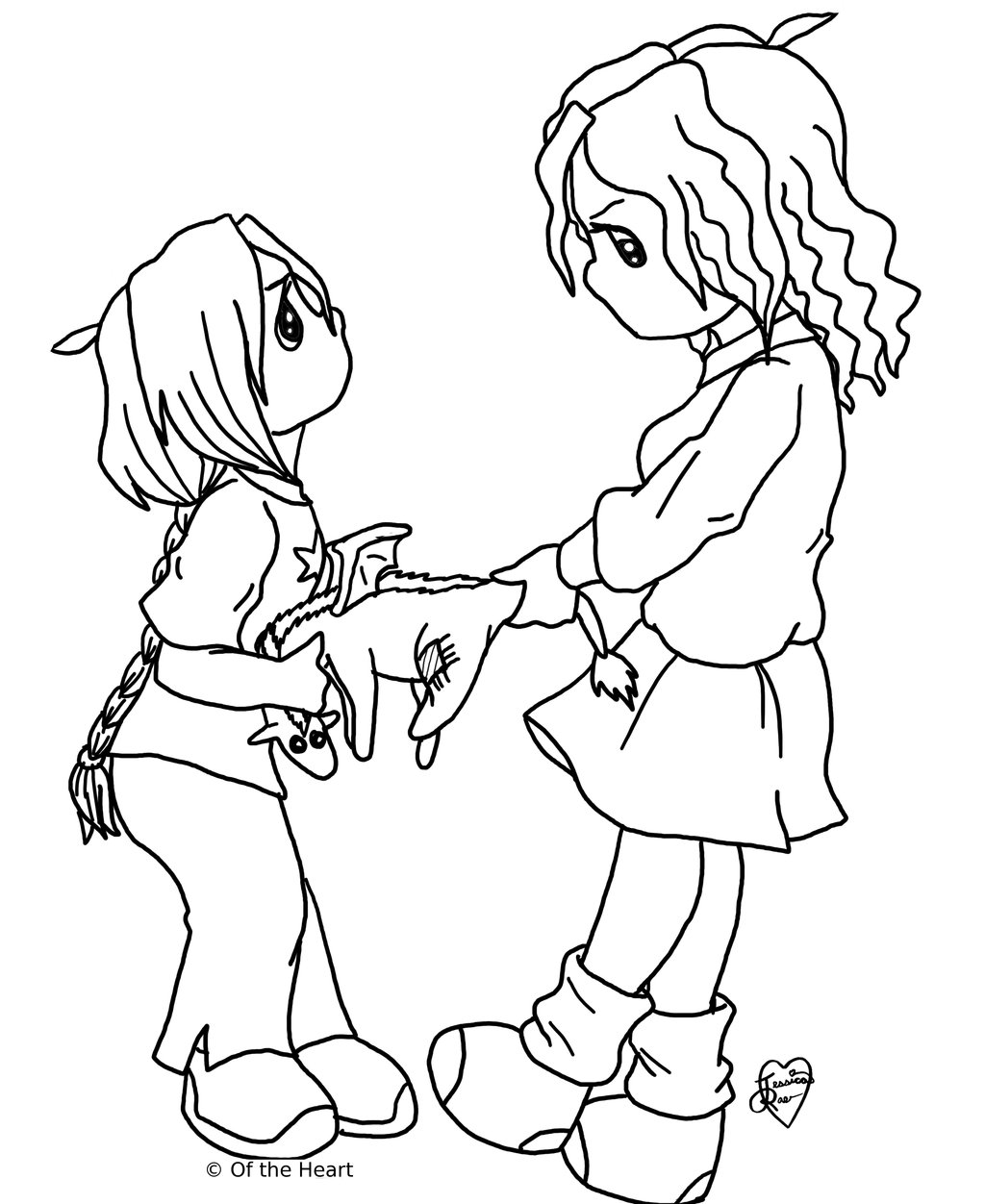 Precious Moments Valentine Coloring Pages & Pictures free image