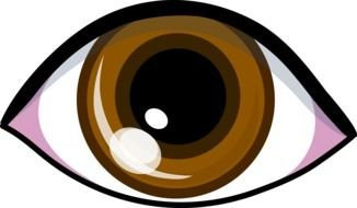 Cartoon brown eye clipart