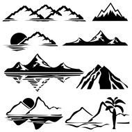 black and white collage of mountain ranges
