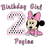 clipart of the Baby Minnie Mouse Birthday