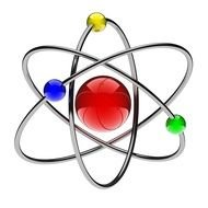 colorful model of atom
