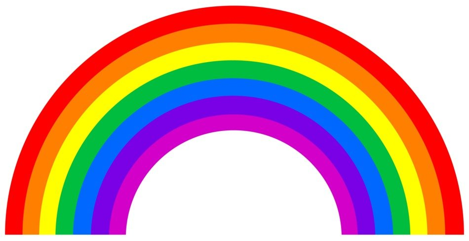 Rainbow on a black background clipart