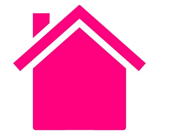 Pink House Outline How To Draw Cartoon Houses