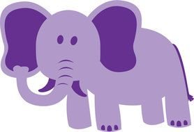 drawing of a purple elephant