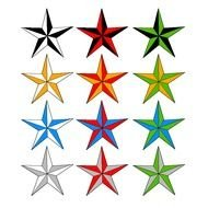 multi-colored stars as a graphic illustration