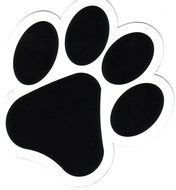 black tiger footprint as a graphic illustration