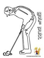 clipart of the playing golf man